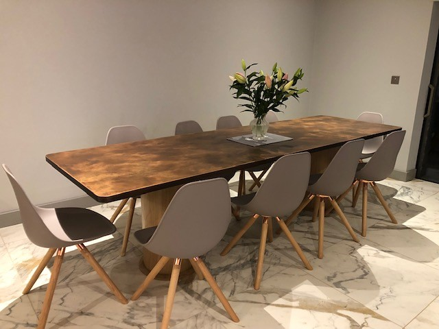 199 - Aged Copper Dining Table   john rutter   Flickr