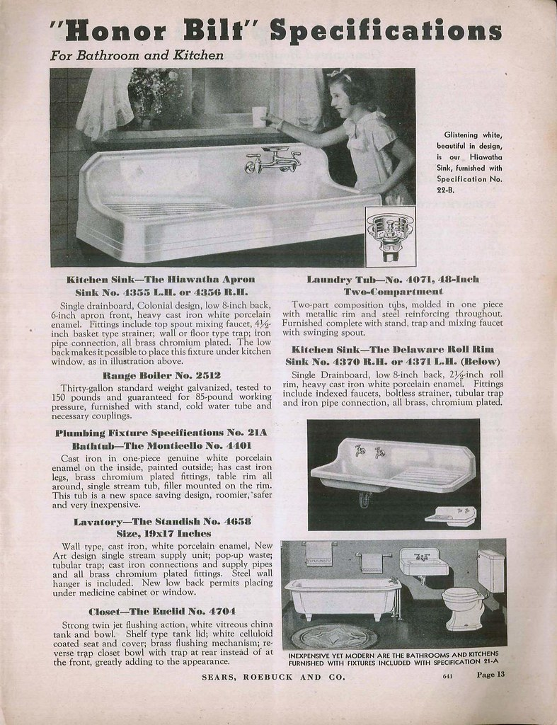 1938 Sears Modern Homes   kitchen sink   Daily Bungalow   Flickr