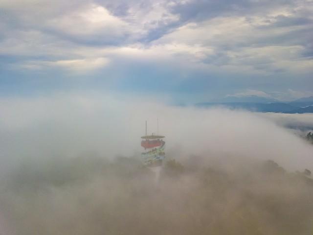 薑麻園瞭望台.雲洞~DRONE 空拍夕陽雲海~翱翔雲端~ Fly above clouds
