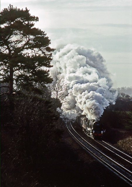 34027, Aynho Junction, January 1990