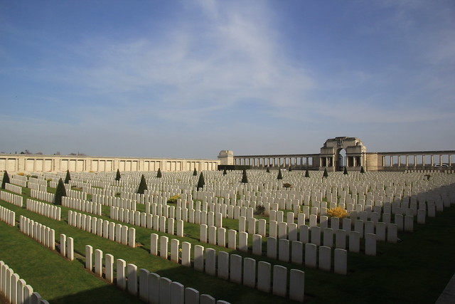 Pozieres British Cemetery. The Somme, WW1.