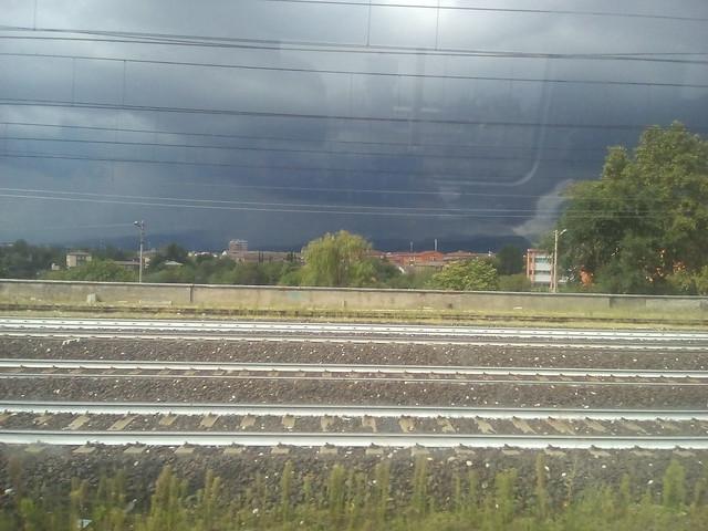 469 maltempo  a verona dal treno per bolzano