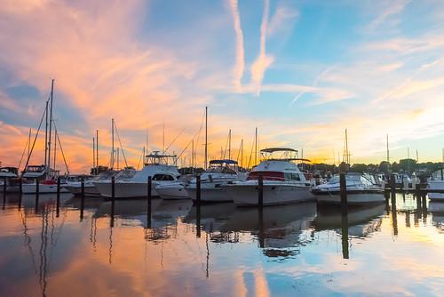 maryland havredegrace nikon d750 tamron marina boats yachts clouds sky sunset water chesapeakebay chesapeake bay