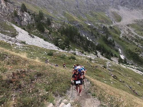 Racers Snake up Tete de la Tronche | by ActiveSteve