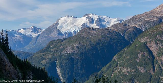Alpine scenery on the way to Salmon Glacier