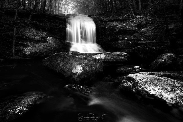 Portrait of a Waterfall BW