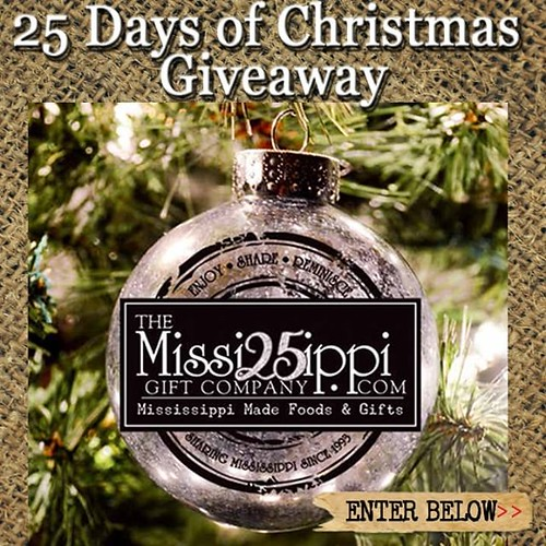 We are doing a special giveaway for the 25 Days of Christmas & a Happy 25th Anniversary to us!  25 Days of Christmas Giveaway - win a MS Made gift given away each day. Enter now at 25 Days of Christmas Giveaway | www.TheMississippiGiftCompany.com/25-days- | by The Mississippi Gift Company