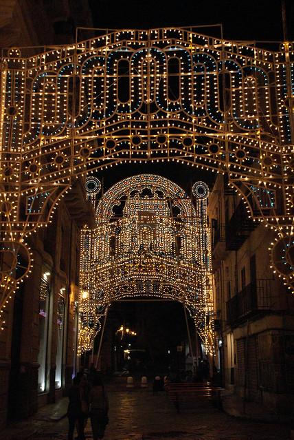 Palermo, Piazza di Sant'Anna ai Lattarini, Festa di Maria SS. della Mercede, Illumination