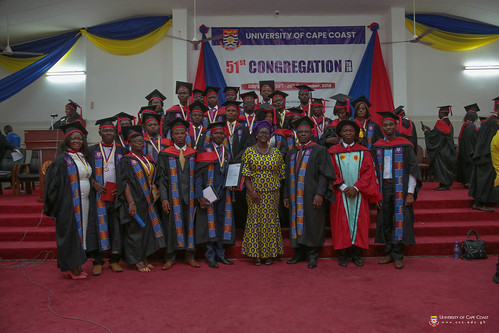 School of Business graduands with some of their Professors
