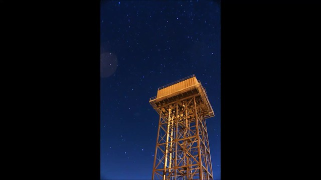 Water Tower Star Trails Timelapse 06/10/18