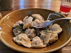 Elk meat pelmeni (dumplings)