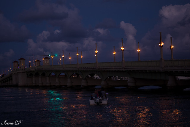 Blue hour by the Bridge of Lions