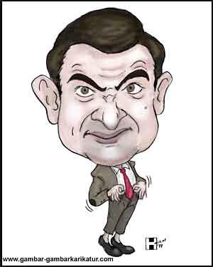 Contoh Gambar Karikatur Mr Bean Ideku Unik