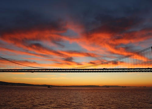 sunrise dawn baybridge sanfrancisco