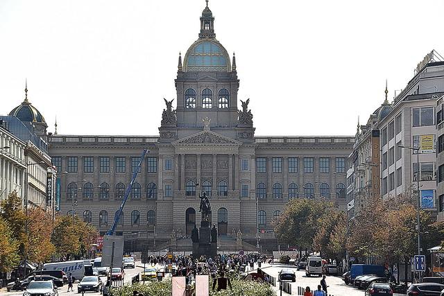 Museum at Wenceslas Square, Prague, Czech Republic.