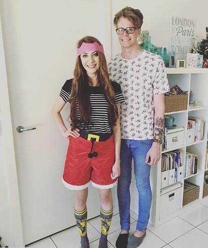 Ju and Callum at Christmas