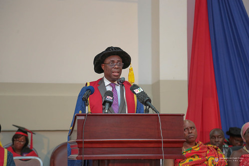 Prof. Joseph Ghartey Ampiah, Vice-Chancellor, University of Cape Coast, delivering his address to the congregation.
