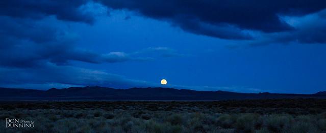 Blue Hour -- Moon Rising at Mono Lake, California