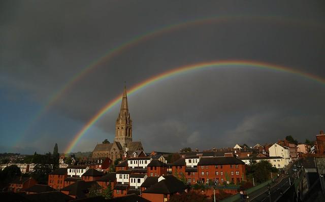 Double rainbow over Exeter