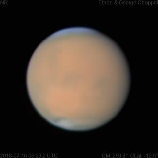 Mars | 2018-07-16 6:26 UTC | RGB | by Chappel Astro