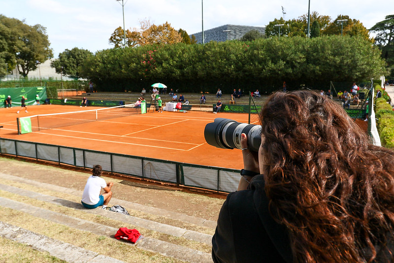 Fotografia sportiva: workshop all'ATP Challenger Tour di Firenze