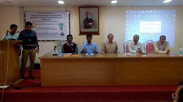 Refresher training course on Improved technologies for Sustainable Agriculture Prospect14th to 17th, Feb, 2018
