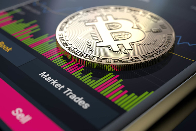 Bitcoin on mobile phone stock trades