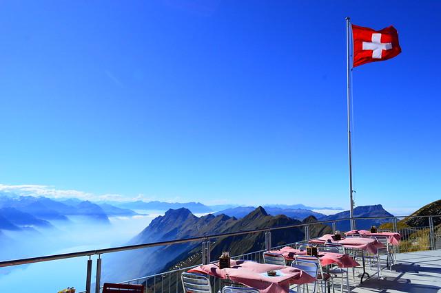 Restaurant auf dem Rothorn Gipfel in Brienz