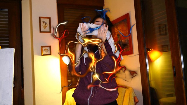 Warm Marta painting blind
