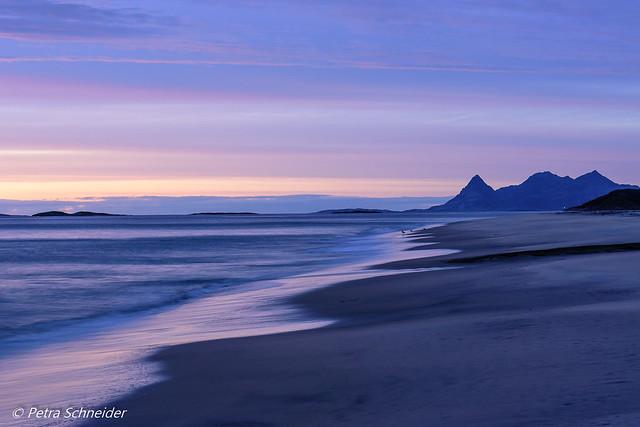 Evening blue hour at Sandvika  beach
