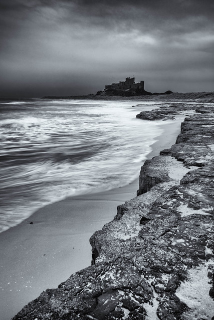 Stormy evening at Bamburgh Castle-2