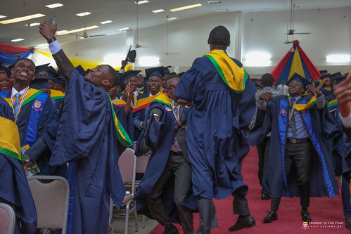 Excited graduands at the ceremony
