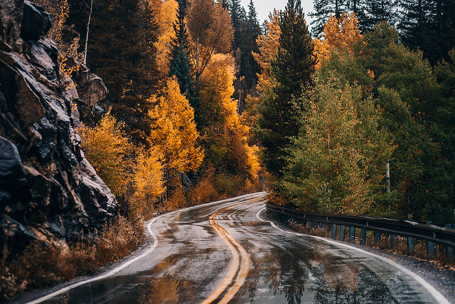 Mountain Roads in Autumn