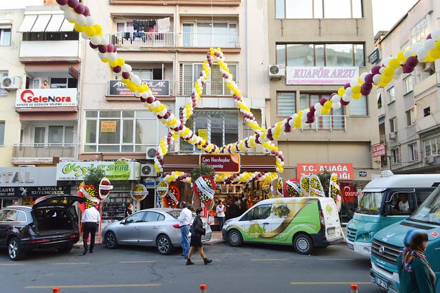 Festive store opening