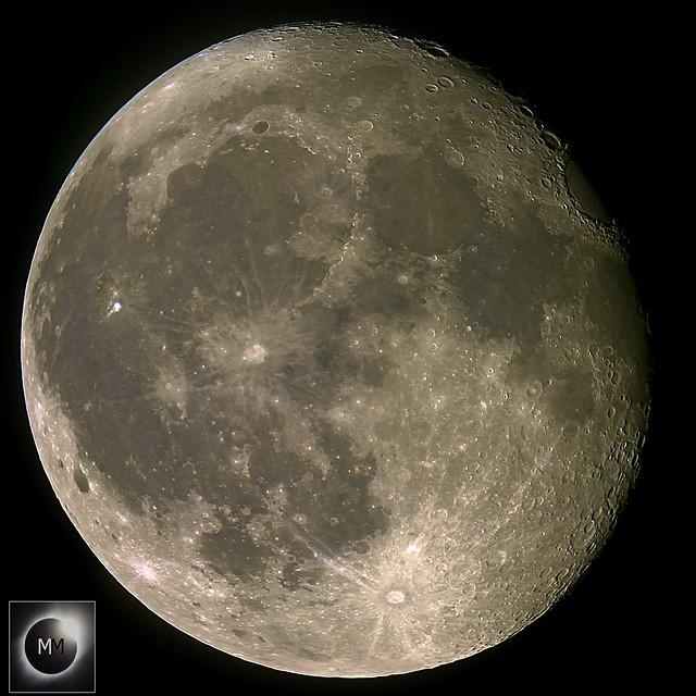 94% Waning Gibbous Moon (13 Pane Mosaic) 26/10/18