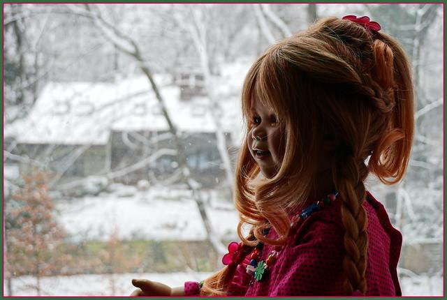 Tivi ... der erste  Schnee, heute vor einem Jahr  ...
