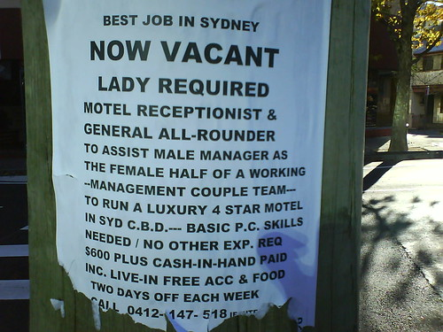Seen on albion st, surry hills. Not in 1 | by James Polley