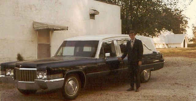 Jonesboro, Ark. - Emerson & Son Funeral Home, Cadillac hearse, 1970