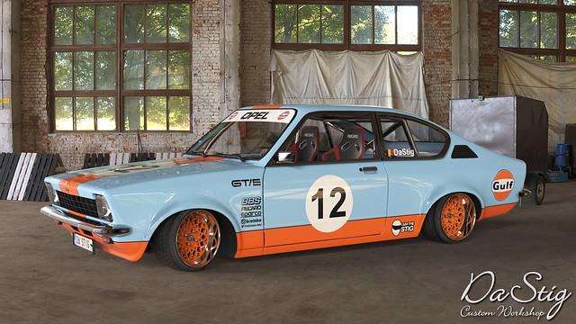 Opel Kadett GT/E - Gulf Livery Colors