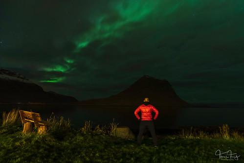 Aurora hunting   by Tómas Freyr