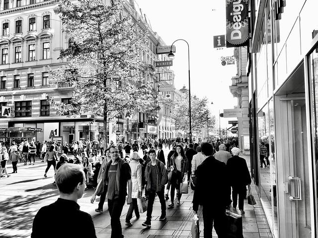Window shopping, Vienna