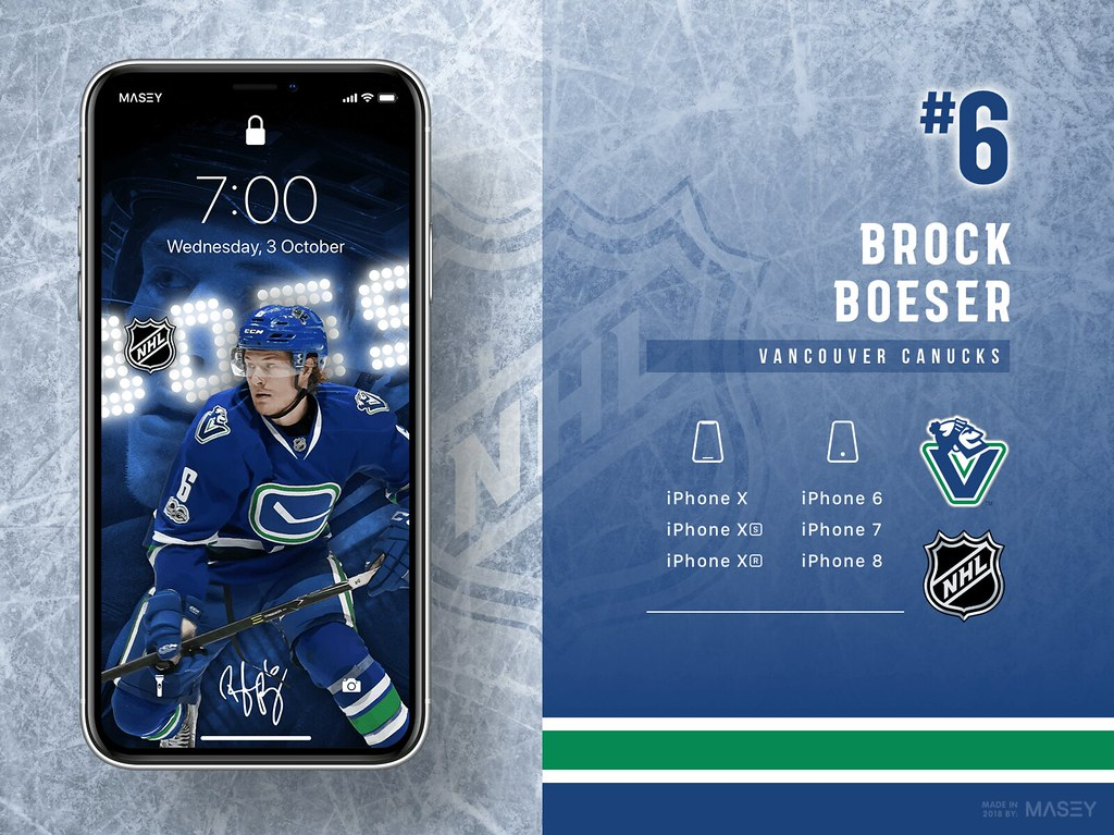 Brock Boeser (Vancouver Canucks) iPhone Wallpaper