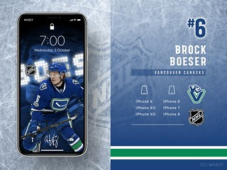 #6 Brock Boeser (Vancouver Canucks) iPhone Wallpapers | by Rob Masefield (masey.co)