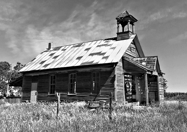 The Old School In Black And White