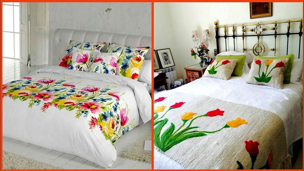 Latest Stylish Embroidered Bed Sheet Designs Ideas Classy Embroidered Bed Sheet A Photo On Flickriver