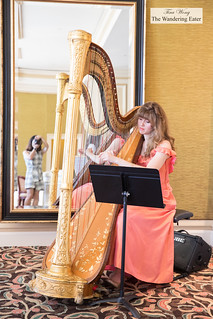 Harpist playing during afternoon tea | by thewanderingeater