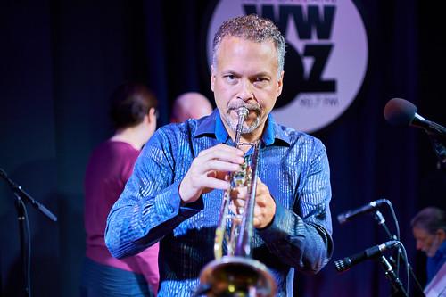 Mark Braud at WWOZ - 10.25.18. Photo by Mark Braud.