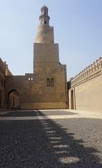 Minaret, the Mosque of Ibn Tulun, Cairo, Egypt.