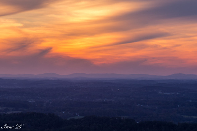 Strokes of light over Tennessee Valley