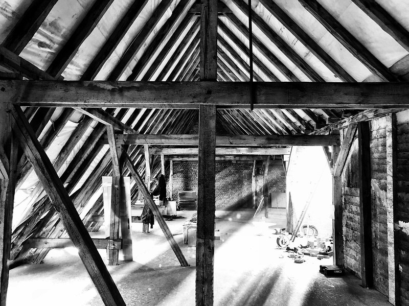 An old attic in the middle of Tempelhof